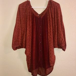 FREE PEOPLE | Oversized Gypsy Top